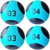 Kit 4 Medicine Ball Liveup PRO 3 e 4 kg Bola de Peso Treino Funcional LP8112