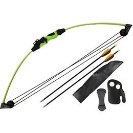 Kit Arco Composto Mankung CB015GN Verde 12 Libras com Flechas e Aljava