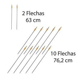 Kit Arco Recurvo 18 Libras em Fibra de Vidro + 12 Flechas