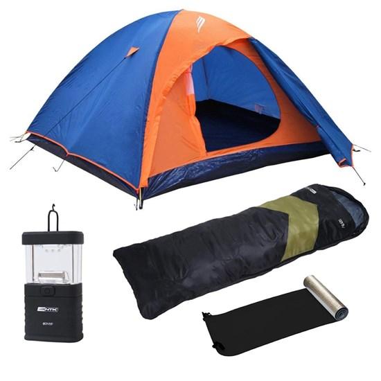 Kit Barraca Iglu Falcon 2 P + Mini Lampião + Isolante Térmico E.V.A. +  Saco Dormir Viper