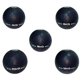 Kit Bola Medicine Slam Ball Para Crossfit 5 Peças 4, 6, 8, 10 e 12 Kg - LIVEUP