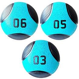 Kit Bolas de Peso Medicine Ball 3 Kg, 5 Kg e 8 Kg Liveup PRO LP8110