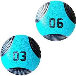 Kit Bolas de Peso Medicine Ball 3 Kg e 6 Kg Liveup PRO LP8110