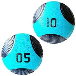 Kit Bolas de Peso Medicine Ball 5 Kg e 10 Kg Liveup PRO LP8110