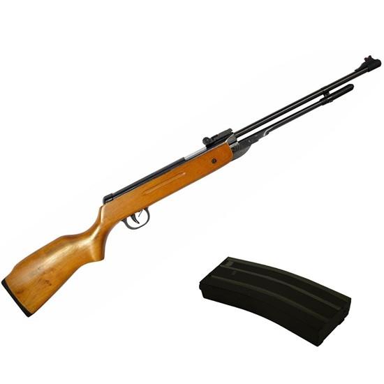 Kit Carabina de Pressão AR+ B3-3 5.5mm Coronha em Madeira + Capa de Proteção ESTC125 Camuflada