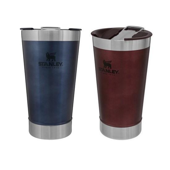 Kit Copo Térmico 473 ml Azul + Copo Térmico de Cerveja Stanley 473 ml Wine
