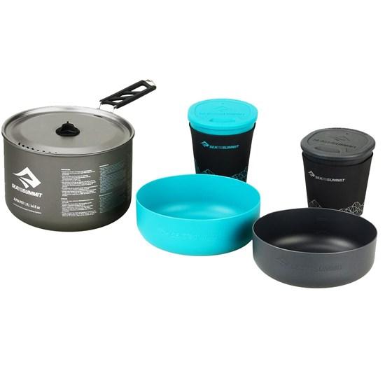 Kit Cozinha para Camping Sea to Summit Alpha Pot Cookset 2.1 Azul e Cinza