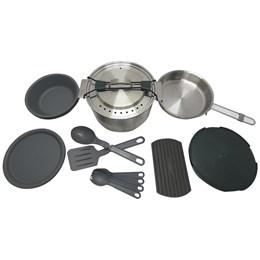 Kit Cozinha para Camping Stanley Prep & Cook 21 Peças com Panela Prato Talher