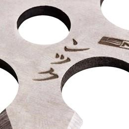 Kit de 3 Estrelas Ninja Shuriken Nautika Myoko de Arremesso em Aço 5 Pontas