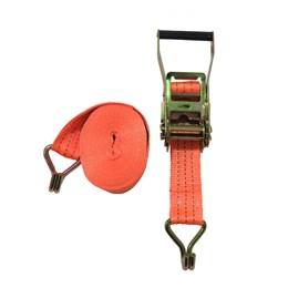 Kit de Amarração 50mm 9 Metros Suporta 3 Toneladas com Gancho Tipo J Laranja