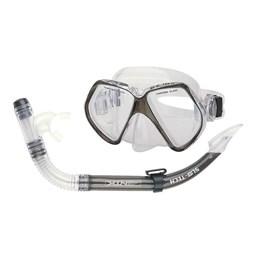 Kit de Mergulho com Máscara de Lente Dupla e Respirador Scuba Preto - Nautika 480750