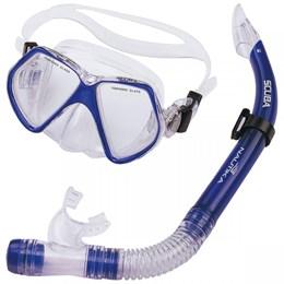 Kit de Mergulho Nautika Scuba com Máscara de Lente Dupla e Respirador Azul