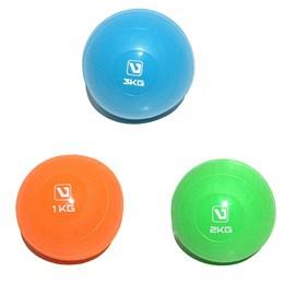Kit de Mini Bolas de Peso Com 1, 2 e 3 kg Para Exercícios - Liveup LS3003
