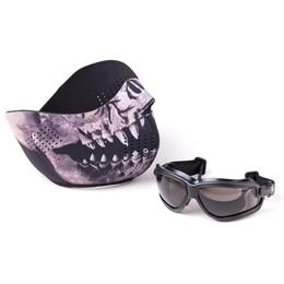Kit de Proteção Facial para Airsoft com Óculos e Máscara Forceflex® Predator - Crosman