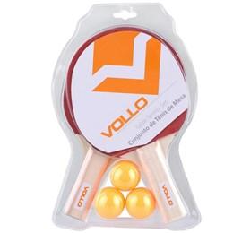 Kit de Tênis de Mesa Table Tennis Vollo com 2 Raquetes + 3 Bolas + Rede de Mesa + Placar de Mesa
