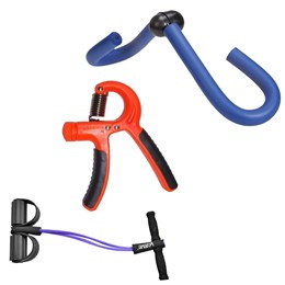 Kit Extensor Elástico Vertical + Exercitador Borboleta e Hand Grip Ajustável - LIVEUP