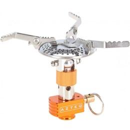 Kit Fogareiro Compacto a Gás Spark com Sistema de Regulagem AZTEQ + 2 Cartuchos de Gás 230g TEKGAS