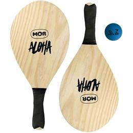 Kit Frescobol com 2 Raquetes e 1 Bola Mor Aloha