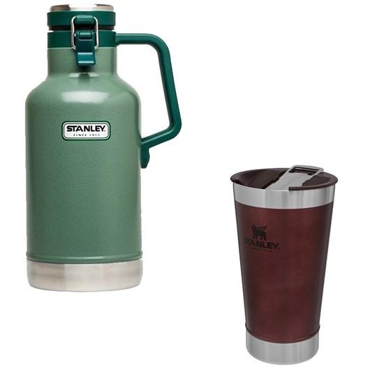 Kit Garrafa Growler Térmico 1,9L com Tampa + Copo Térmico Stanley 473 ml