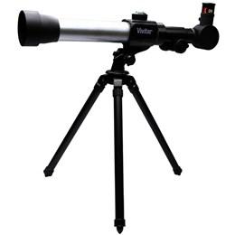 Kit Infantil Combinado Telescópio e Microscópio - VIVITAR VIVTELMIC20