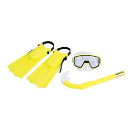 Kit Infantil de Mergulho Pacific com Nadadeiras Máscara e Snorkel Amarelo - Nautika