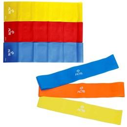 Kit Látex Band 3 Níveis T13 + Elásticos Mini Bands com 3 Intensidades T71 ACTE