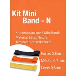 Kit Mini Band Faixa Elástica Acte Sports T71-N 3 Intensidades
