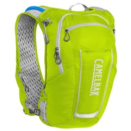 Kit Mochila de Hidratação 2L Amarela Camelbak Ultra 10 Vest + 2 Garrafas Flexíveis Camelbak