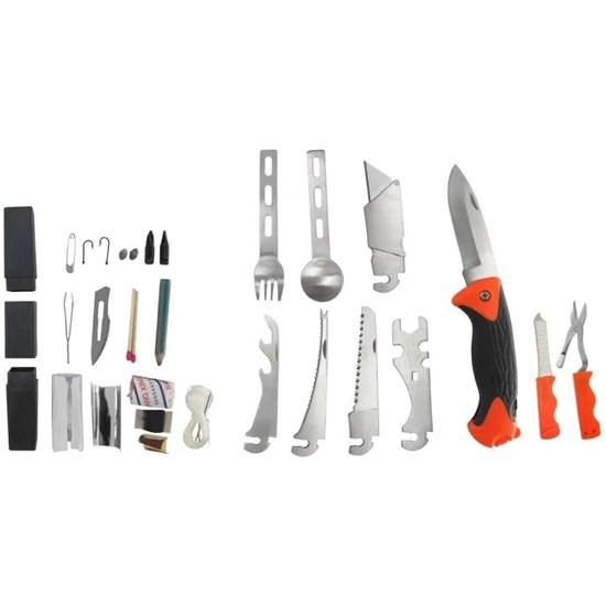 Kit Multifunção Bush Azteq com Canivete Estilete Talheres Tesoura