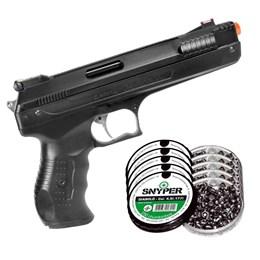 Kit Pistola Airgun Beeman 2004 4.5mm 410FPS + 1250 Chumbinhos Snyper Diabolô