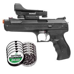 Kit Pistola Airgun Beeman 2006 4.5mm + 1250 Chumbinhos Snyper Diabolô 4.5mm