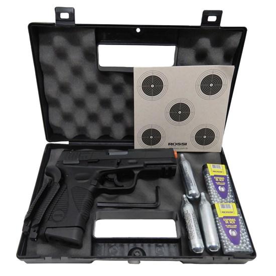 Kit Pistola Airgun Co2 KWC 24/7 4.5mm + Maleta + 3 Alvos + 600 Esferas de Aço + 3 Mini Cilindros Co2 12g