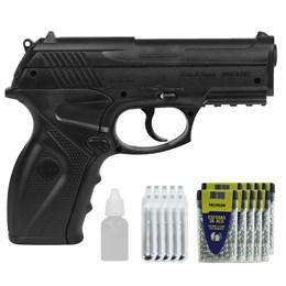 Kit Pistola Airgun Wingun C11 4.5mm + 3000 Esferas de Aço + Óleo + 20 Mini Co2 12g