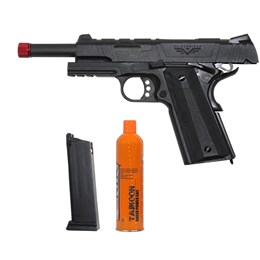 Kit Pistola Airsoft 1911 Redwings Rossi com BlowBack + Cartucho Green Gás