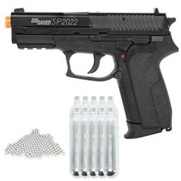 Kit Pistola Airsoft Co2 Cybergun SP2022 + 10 Mini Cilindros Co2 + 4000 BBs 0,20g