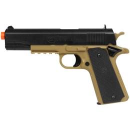 Kit Pistola Airsoft Colt 1911 230 FPS BAXS + Maleta Case Rossi AC000301 + 2500 Munições BBs 0,12g