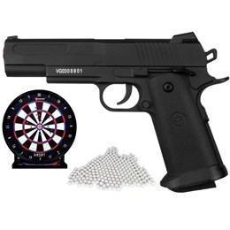Kit Pistola Airsoft de Metal Vigor 1911 160 Fps + 2000 BB's 0,12