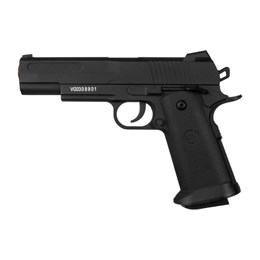 Kit Pistola Airsoft Metal 1911 160 FPS 6mm + 2000 BBs 0,12g + Alvo Airsoft SMS Silhueta