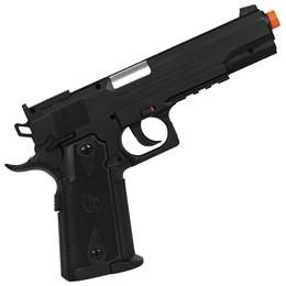 Kit Pistola de Airsoft CO2 CyberGun Colt 1911 424 fps + 2 Minis Cilindros CO2 + 2000 BBs + Maleta