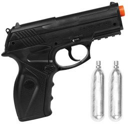 Kit Pistola de Airsoft CO2 Win Gun C11 492 fps + 2 Minis Cilindros CO2 12g  Swiss Arms