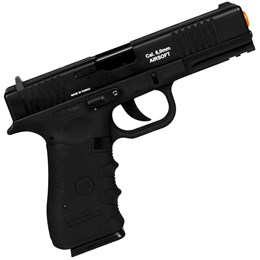 Kit Pistola de Airsoft CO2 Win Gun W119 Semi-Automática + 2 Minis Cilindros CO2 + 2000 BBs + Maleta