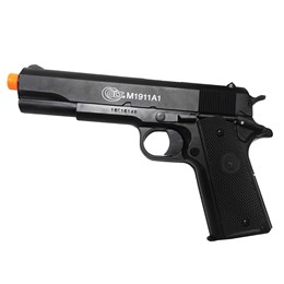 Kit Pistola de Airsoft Colt M1911A1 328 fps Spring 6mm + Munição BBs 0,12g BB King 1000 Unidades