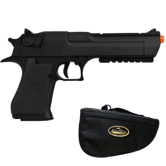 Kit Pistola de Airsoft CYMA Desert Eagle CM121 AEP 200 fps + Capa Rios e Mares