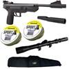 Kit Pistola de Pressão BBP77 4.5mm Nitro Piston + Luneta 3-7x20 + Capa Preta + 500 Chumbinhos