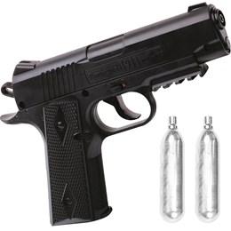 Kit Pistola de Pressão CO2 88 Remington 1911 4.5mm 480 fps + 2 Minis Cilindros CO2 12g  Swiss Arms