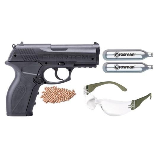 Kit Pistola de Pressão CO2 Crosman P10 + Óculos e 2 Ampolas