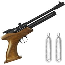 Kit Pistola de Pressão CO2 SPA CP1-M 4.5mm 500 fps Semi-Automática + 2 Minis Cilindros CO2 12g