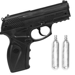 Kit Pistola de Pressão CO2 Win Gun C11 4.5mm 410 fps Semi-Automática + 2 Minis Cilindros CO2 12g