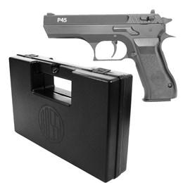 Kit Pistola de Pressão KWC P45 PCP 4.5mm 375 fps 2 Magazines + Maleta Rossi AC000301 para Armas