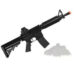 Kit Rifle Airsoft CyberGun M4A1 Colt 361 fps AEG Preto + Munição BBs 0,12g 2000 Unidades